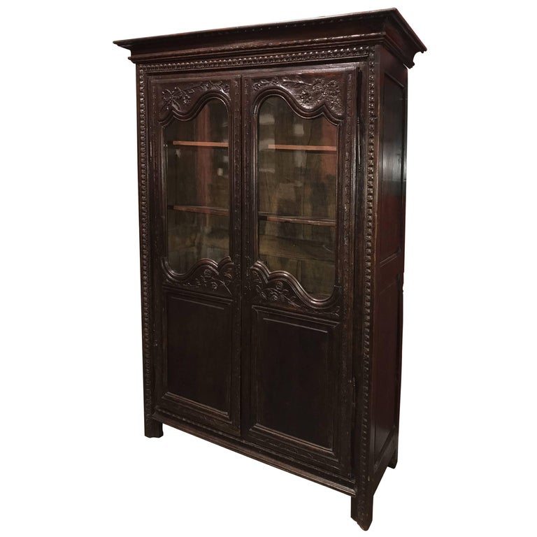Late 18th Century Louis XVI French Walnut Two-Door Bookcase