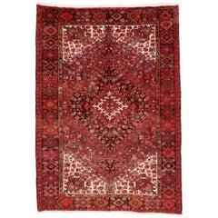 Vintage Persian Heriz Rug with Modern Style
