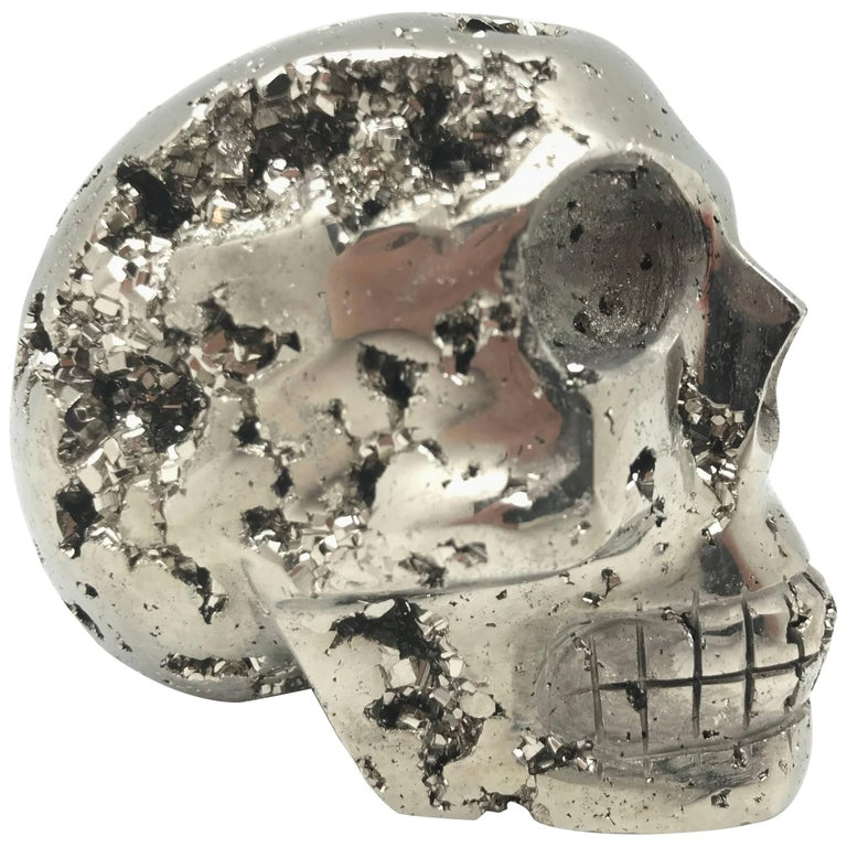 Large Pyrite Skull from Peru For Sale