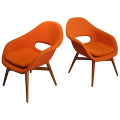 Pair of 1960s Lounge Chairs by Miroslav Navratil