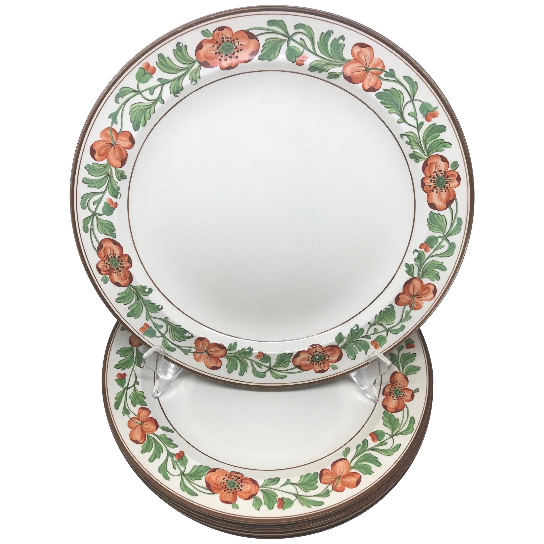 Set of Eight Wedgwood Creamware Plates