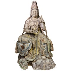 Guanyin, the Chinese Form of the Bodhisattva, Ming Style, China, 19th Century