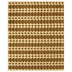 Angela Adams Garbo, Brown Area Rug, 100% New Zealand Wool, Handcrafted, Modern