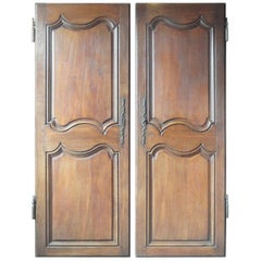 18th Century French Pair of Oak Doors