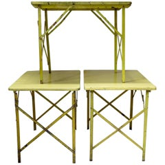 French 1950s Folding Picnic Tables
