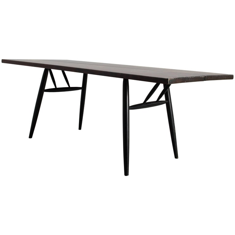 Ilmari Tapiovaara Midcentury Large Finish Pirkka Table by for Laukaan Puu