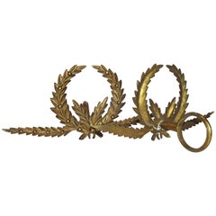 Antique French Brass Drapery Rod Holders