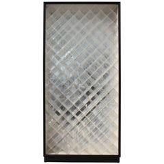Modern Monumental Rectangular Lucite Wine Rack with a Black Frame