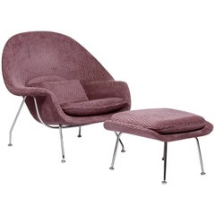 Vintage 'Womb Chair' and Matching Ottoman by Eero Saarinen