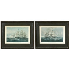 Pair of United States Packet Ship Nautical Prints