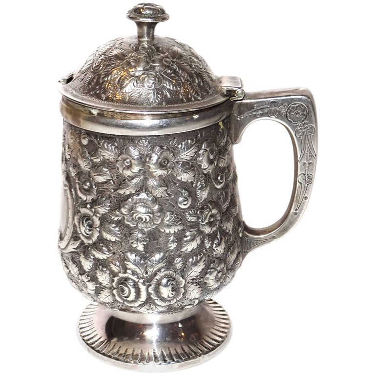 19th Century Jelly Pot in Sterling Silver By Krider & Biddle from A. E. Warner For Sale