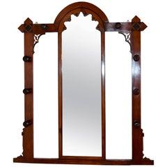 19th Century English Mahogany Hall Mirror