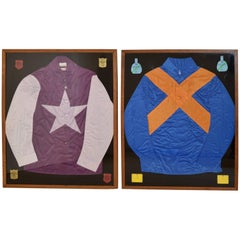 Pair of Framed Jockey Silks
