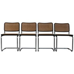 Set of Four Cesca Gavina Chairs by M. Breuer, 1970