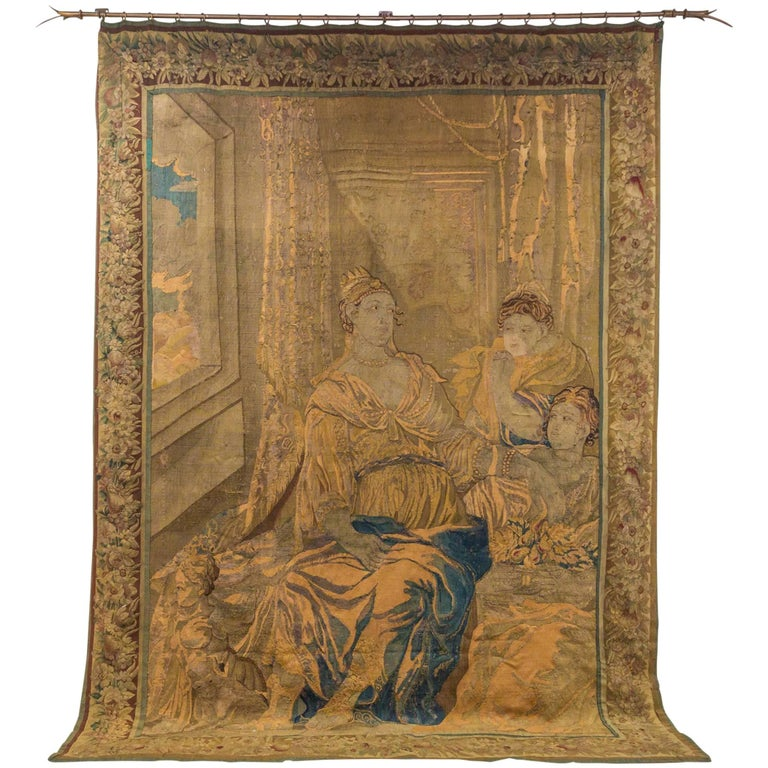 Handwoven 18c Flemish Tapestry