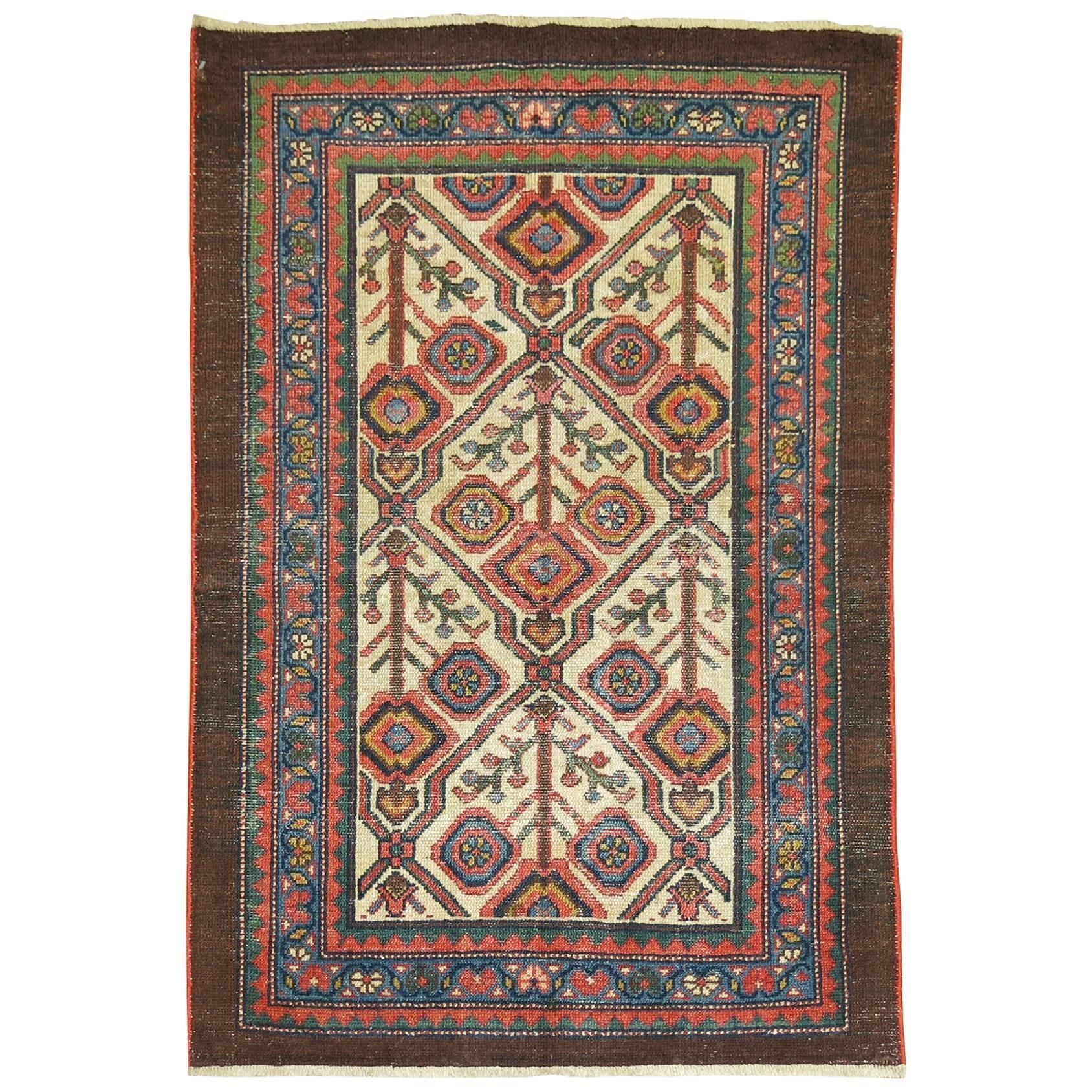 Antique Persian Serab Decorative Rug Mat