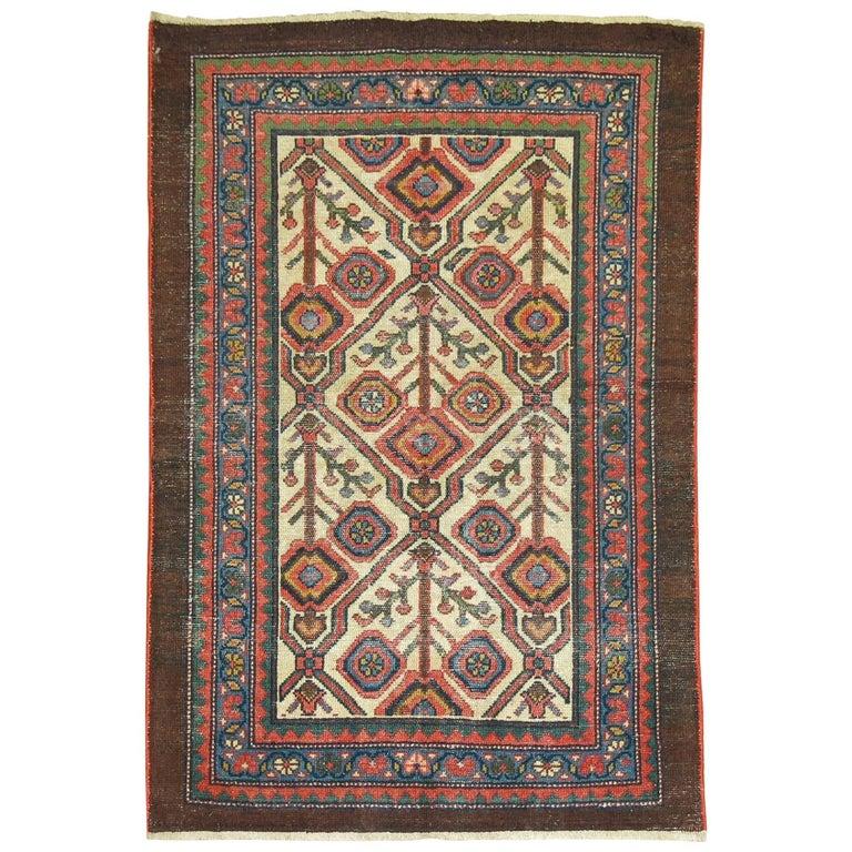 Antique Persian Serab Decorative Rug Mat For Sale