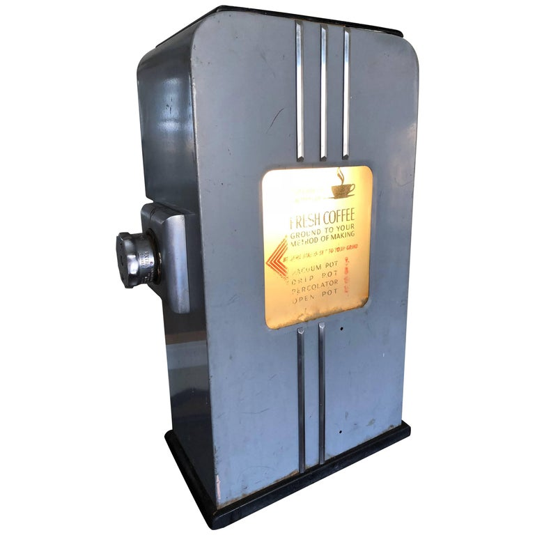 Commercial, Industrial Working Early Market Coffee Grinder with Light-Up Display