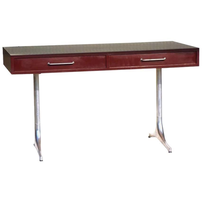 George Nelson by Herman Miller Laminated Aluminum Design 1950s Rare Desk