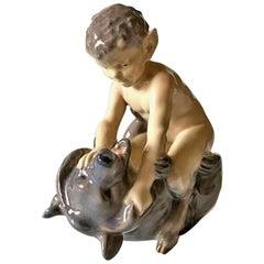 Royal Copenhagen Figurine Faun with Bear #648