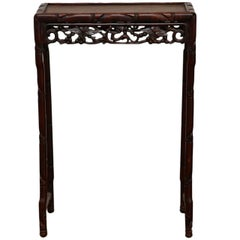 19th Century Chinese Rosewood Carved Tea Table