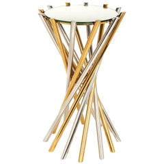 Electrum Brass and Nickel Accent Table