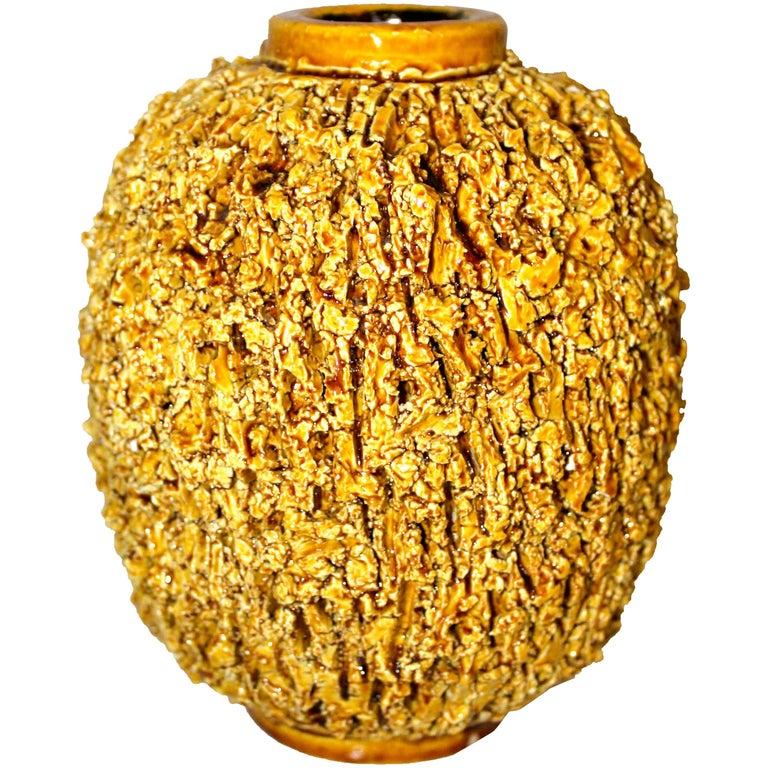 Gunnar Nylund Chamotte Ceramic Vase by Rörstrand