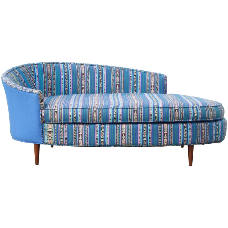Adrian Pearsall Oval Chaise Lounge Settee For Sale