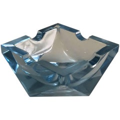 Art Deco Crystal Ashtray