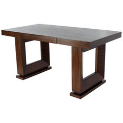 Square Frame Legs Rosewood Mid-Century Modern Writing Table Desk