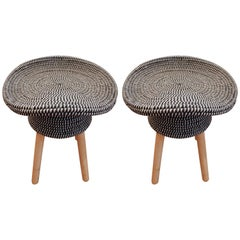 Pair of French Hat Stools