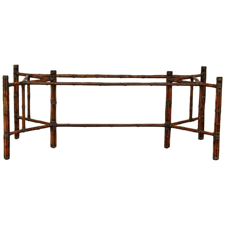 McGuire Rectangular Bamboo Dining Table