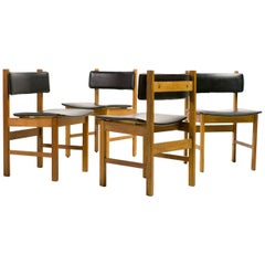 H.P. Hansen Set of Four Danish Architectural Dining Chairs