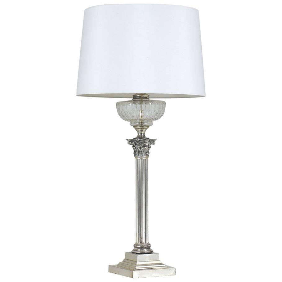 Regency Silver Plate Table Lamp
