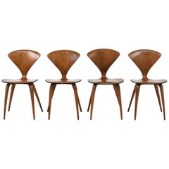 Set of Four Modern-Style Side Chairs by Bernardo for Plycraft Inc.