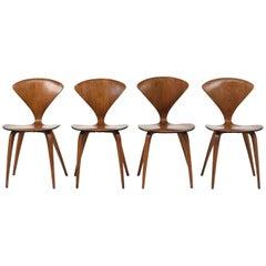 Set of Four Modern Pretzel Chairs by Plycraft