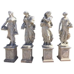Cast Stone Garden Statues, the Four Seasons