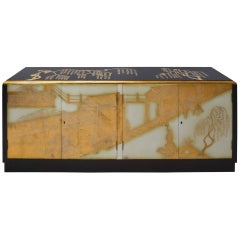 Hollywood Regency Chinoiserie Cabinet