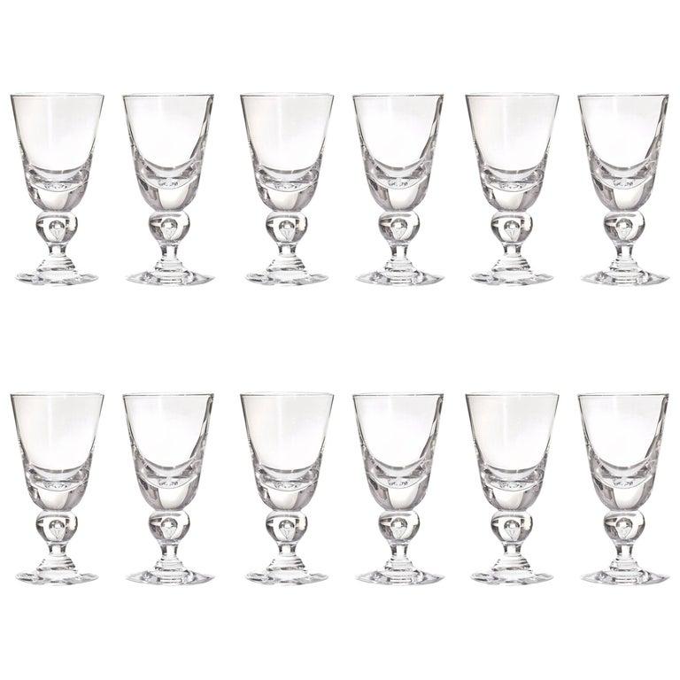 82dfef6caf2 12 Exceptional Modernist Steuben Baluster Water Goblets at 1stdibs