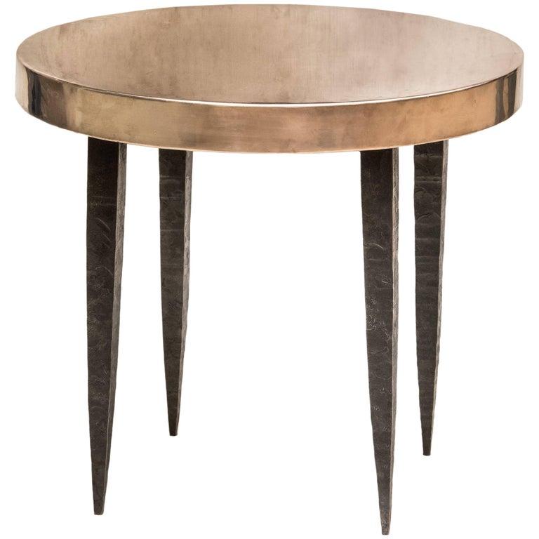 Bronze Stiletto Leg Side Table