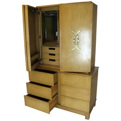 Tall Gentleman's High Chest Mirrored Compartment