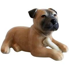 "Royal Copenhagen ""Puppy Collection"" Boxer Figurine #748"