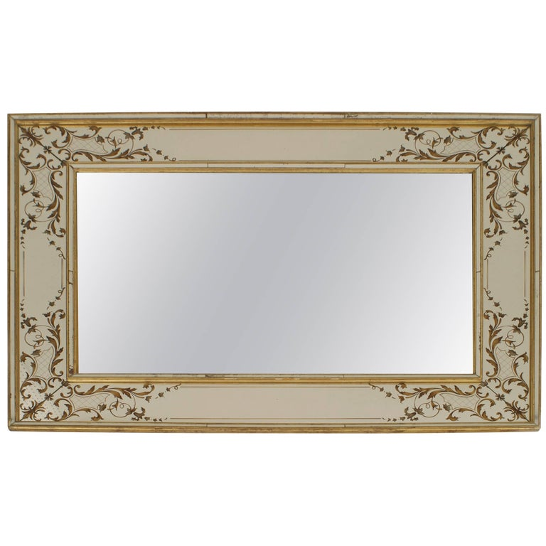 French 1940s Rectangular Wall Mirror