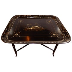 French Chinoiserie Tray Table, 1920s