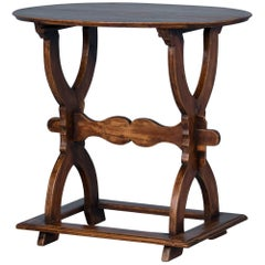 Small Oval Antique Country Side Table