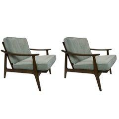 Danish Pair of Lounge Chairs