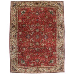 Vintage Persian Tabriz Area Rug with Traditional Colonial and Federal Style