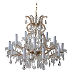 Austrian Crown Shaped Crystal Chandelier From Vienna, circa 1930