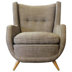 Paolo Buffa, Italian Mid-Century Wingback Armchair from the 1950s