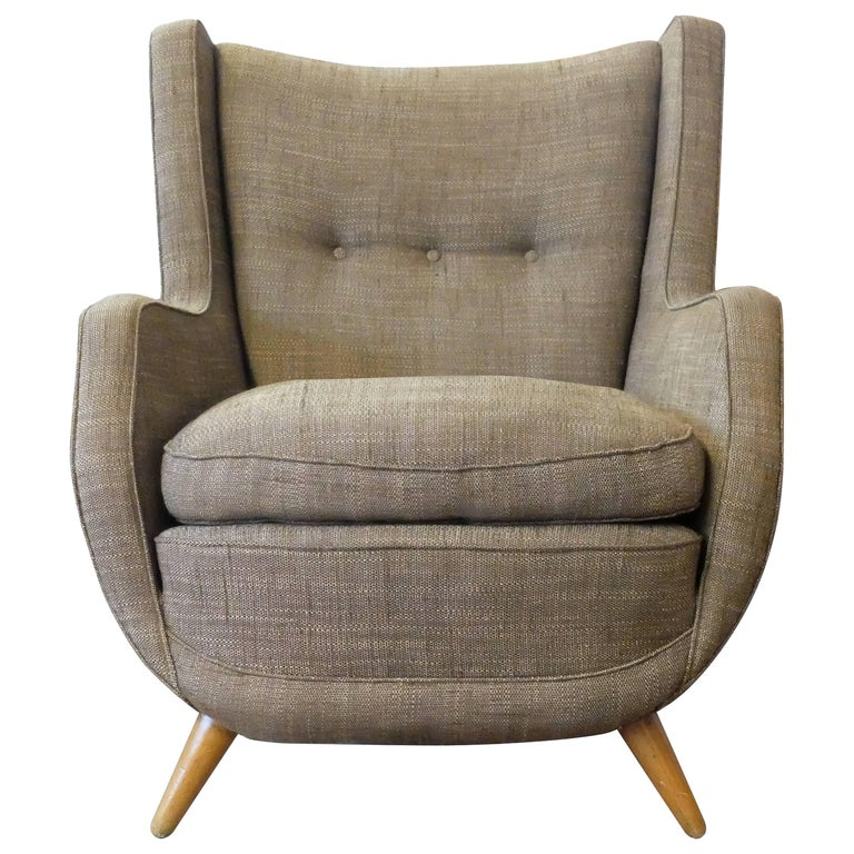 Voluptuous Wingback Armchair by Paolo Buffa, from the 1950s